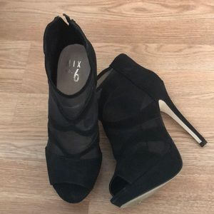 Mix No. 6 Shoes - Mesh heeled booties